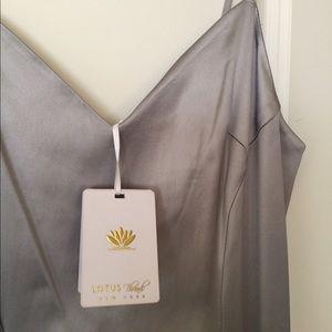 fd63d01a31ab Prom! NWT Lotus Threads Silver Satin Gown Sz 8